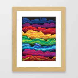 The Badlands Framed Art Print