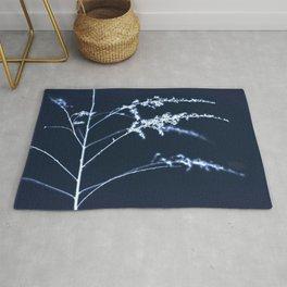 Soft Botanical Cyanotype Inspired Print No. 3 Rug