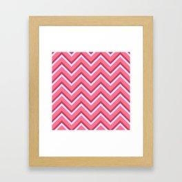 Pink Zig Zag Pattern Framed Art Print