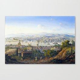 Carlo Bossoli Turks Overlooking Istanbul Canvas Print