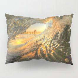 Inside The Tube Huntington Beach Pier Pillow Sham
