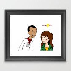 Daria meets Andres Bonifacio Framed Art Print
