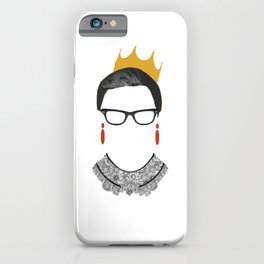 RBG Ruth Bader Ginsburg Drawing 2 iPhone Case