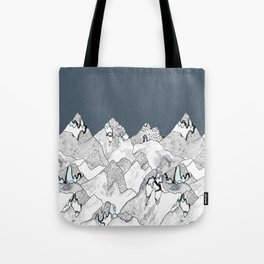 At night in the mountains Tote Bag