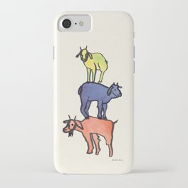 3 Billy Goats Up iPhone Case