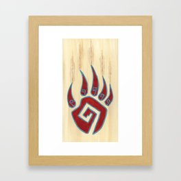 Tribal Bear Paw Framed Art Print