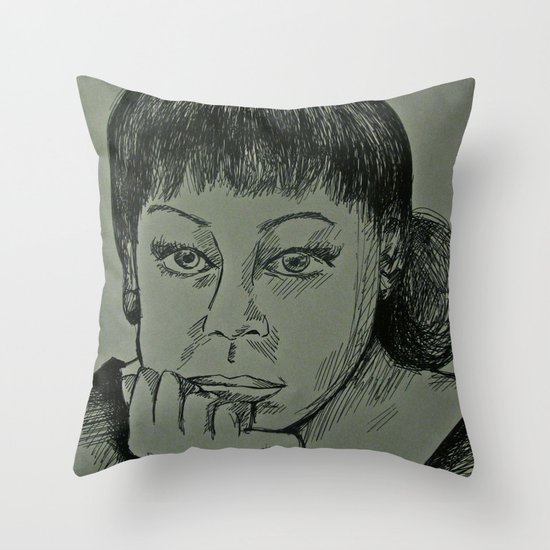 Adele Sketch Throw Pillow