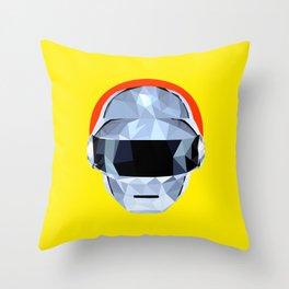 Daft Low Poly Punk Throw Pillow