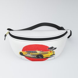 Sports car Japanese style. Fanny Pack