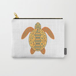 Sea Turtle - Gold and Blue Carry-All Pouch