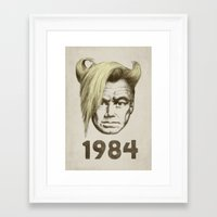 1984 Framed Art Prints featuring 1984 by Eric Fan