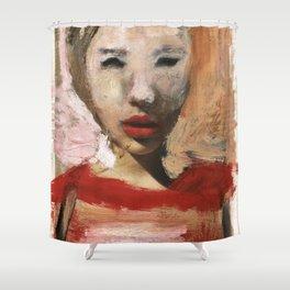 Scarlett/Newspaper Serie Shower Curtain