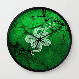 White Snake Wall Clock