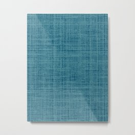 navy teal blue abstract texture style pattern Metal Print