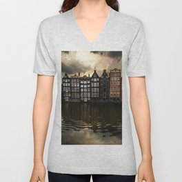 Postcards from Amsterdam Unisex V-Neck