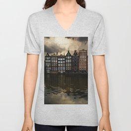 Postcards from Amsterdam Unisex V-Neck