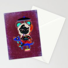 Doll  little dog carrousel and cute butterfly panda bear toy Stationery Cards