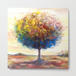 Tree landscape Metal Print