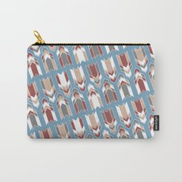 Blue & Red Arrows Pattern Carry-All Pouch