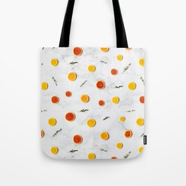 orange slices pattern Tote Bag