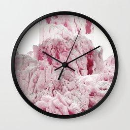 Pink Glacier Wall Clock