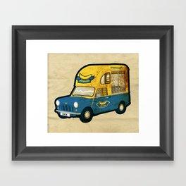 PEPISANG Banana Mobil Framed Art Print