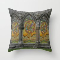 doors Throw Pillows featuring Doors by Nicholas Bremner - Autotelic Art