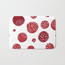 Abstract design with circles Bath Mat
