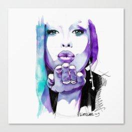 I give you a blown kiss Canvas Print