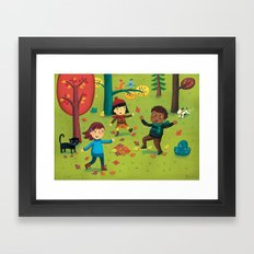 Fall Foliage Fun Framed Art Print
