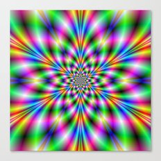 Star in Neon Lights Canvas Print