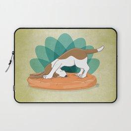 Basset Hound Downward Dog Laptop Sleeve