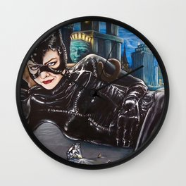 The Purrrfect Score Wall Clock