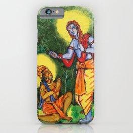 Painting of Lord Ram and Hanuman / Painting of Monkey King / Original painting of Amrita Gupta iPhone Case