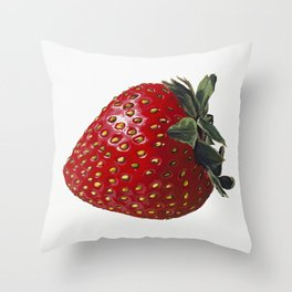 A Strawberry, Out of the Universe Throw Pillow