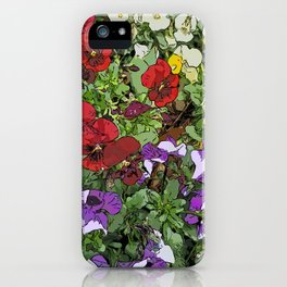 Red Purple Yellow Flowers by Daniel MacGregor iPhone Case