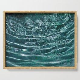 Iridescent Teal Purple Ocean Dream #1 #water #decor #art #society6 Serving Tray