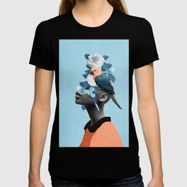 Girl with parrot T-shirt