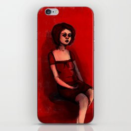 Red Woman iPhone Skin
