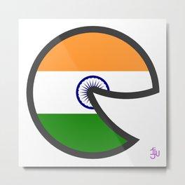 India Smile Metal Print