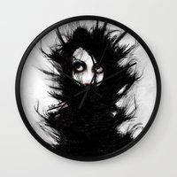 wrestling Wall Clocks featuring Coiling and Wrestling. Dreaming of You by Rouble Rust