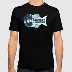 Haddock's Natural Fish Oil Black MEDIUM Mens Fitted Tee