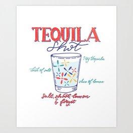 Tequila Shot Art Print