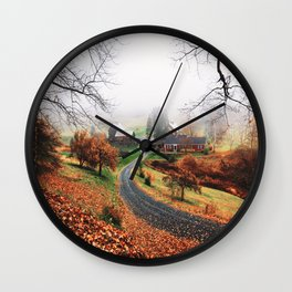 farm in vermont Wall Clock