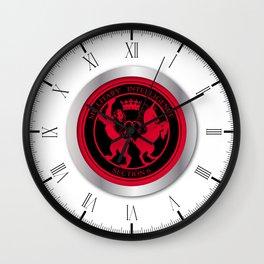 Mi6 Badge Button Wall Clock