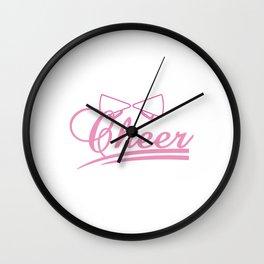 "Cheerleading Tee Perfect Gift For Cheerleaders ""Cheer"" T-shirt Design Shout Rhythm Move Mentor Music Wall Clock"