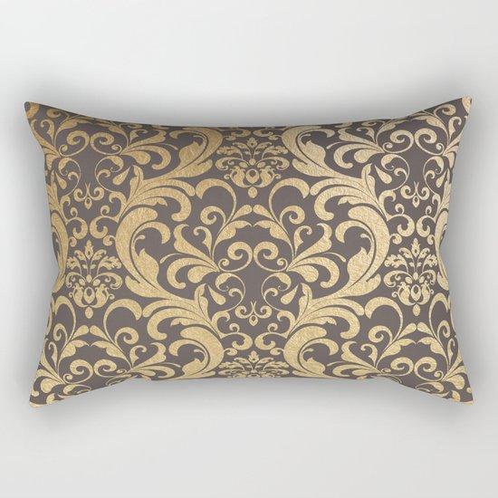 Gold swirls damask #1 Rectangular Pillow