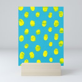 Turquoise Mustard Mini Art Print