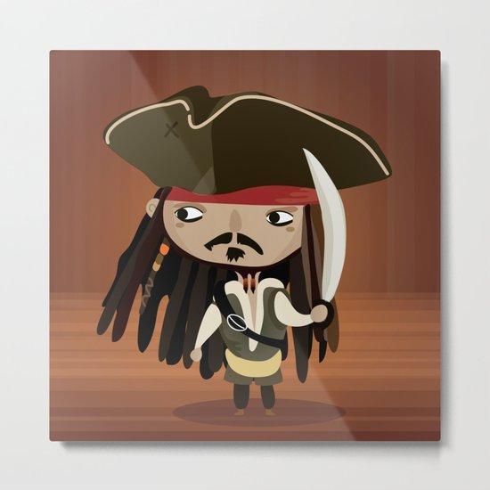 Captain Sparrow Metal Print