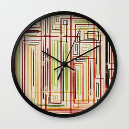 Stuck in Lines Wall Clock